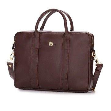 323c18899b30b Skórzana torba na laptopa Felice Gold FG04 bordowa -  15191 ...