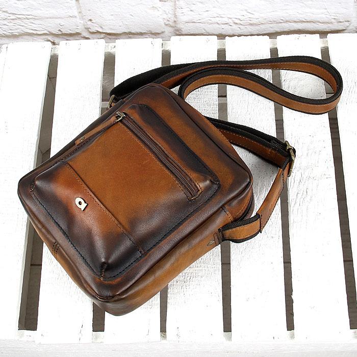 4582c2fe693753 ... Skórzana torba na ramię koniakowa vintage unisex Daag Alive 30 ...