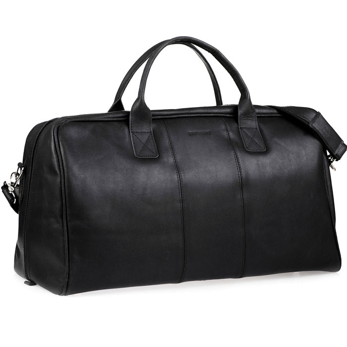 166df8f0c3bbf Skórzana torba podróżna BRODRENE BL10 czarna -  14255