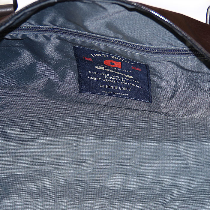 Skórzana torba podróżna weekender brązowa Daag Storm 5