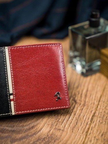 Portfel męski czarno-czerwony Rovicky 323-RBA-D BLACK-RED