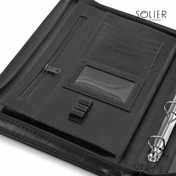 Aktówka biwuar na dokumenty A4 Solier ST01 czarny