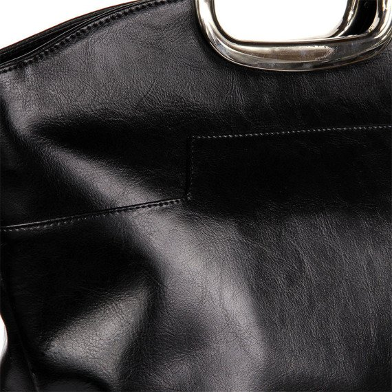 Aktówka kuferek ze skóry naturalnej DAN-A T259 czarna