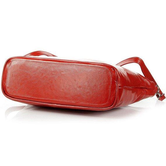 Aktówka kuferek ze skóry naturalnej DAN-A T259 czerwona