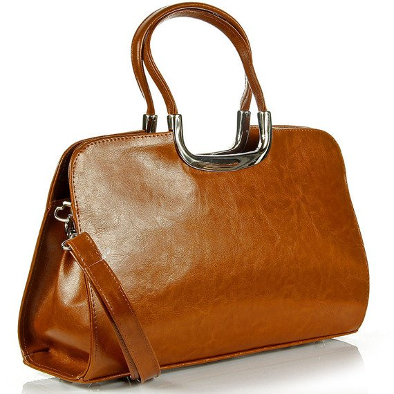 Aktówka kuferek ze skóry naturalnej DAN-A T260 camel