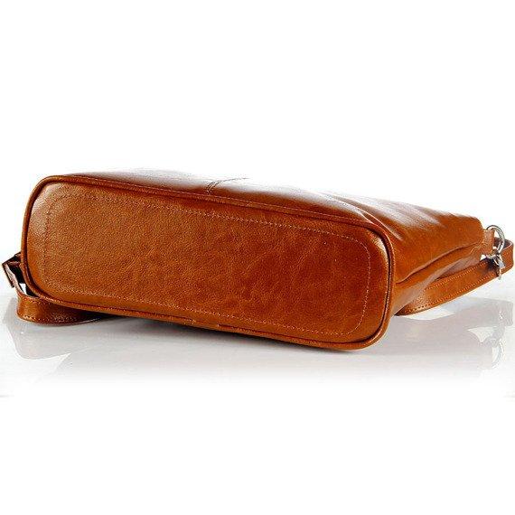 Aktówka kuferek ze skóry naturalnej DAN-A T262 camel
