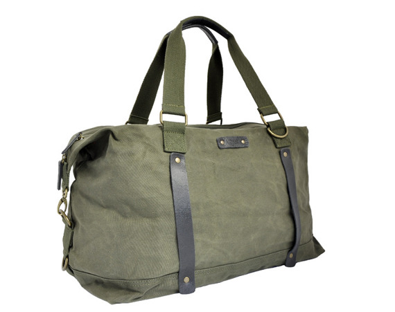 Bawełniana torba weekender unisex 2JUS by DAAG Zone 4 oliwka