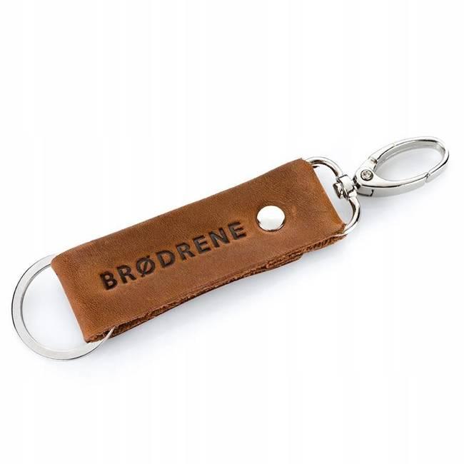 Breloczek skórzany Brodrene BR01 jasnobrązowy