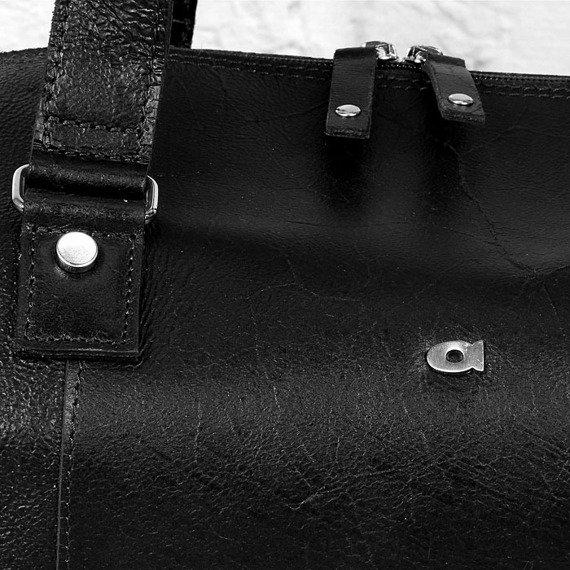 DAAG Jazzy Party 221 czarna torba skórzana podróżna