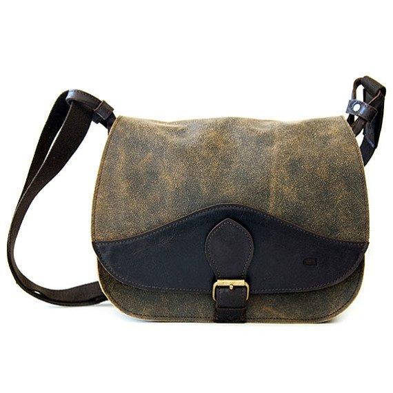 DAAG Jazzy Risk 138 brązowa skórzana torba na ramię unisex