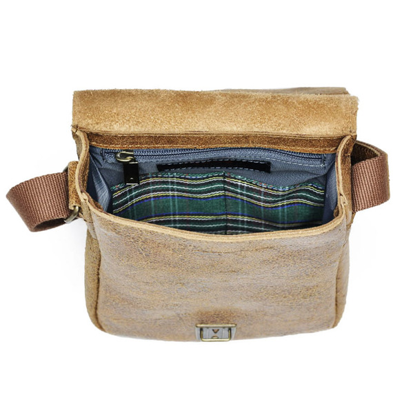 DAAG Jazzy Wanted 86 brązowa torba skórzana unisex listonoszka przez ramię