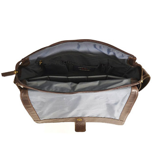 DAAG Take Away 3 ciemnobrązowa torba skórzana na ramię tablet unisex