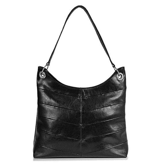 DAN-A T159 czarny torebka skórzana damska