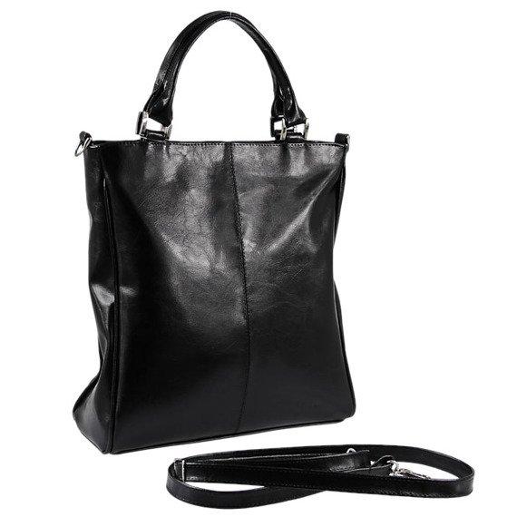 DAN-A T177A czarna torebka skórzana damska aktówka