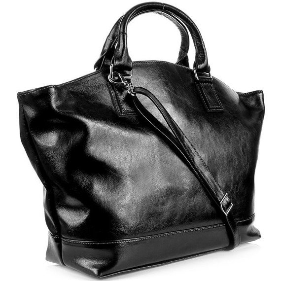 DAN-A T221 czarna torebka skórzana damska łódka