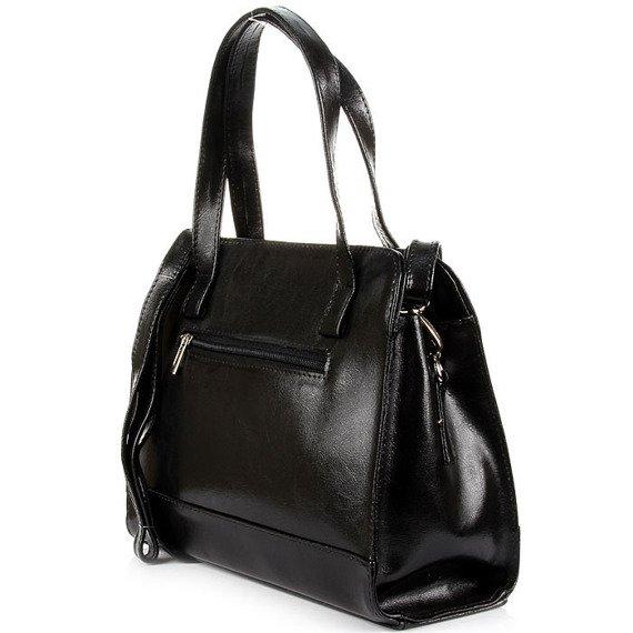 DAN-A T244 czarna torebka skórzana damska kuferek