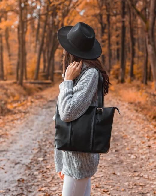 DAN-A T251 czarna torebka skórzana elegancka