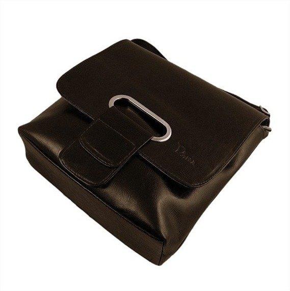 DAN-A T37 czekoladowa torebka skórzana damska listonoszka