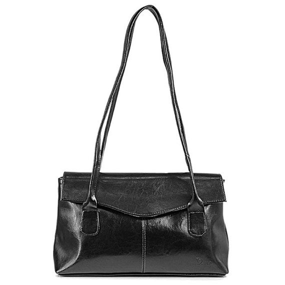DAN-A T39 czarna torebka skórzana damska