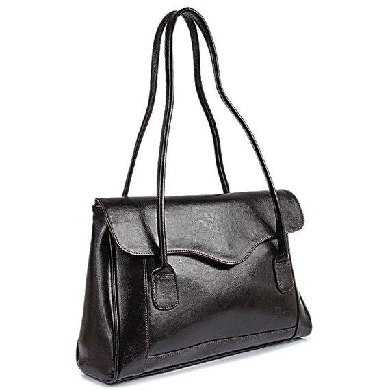 DAN-A T41 czekoladowa torebka skórzana damska