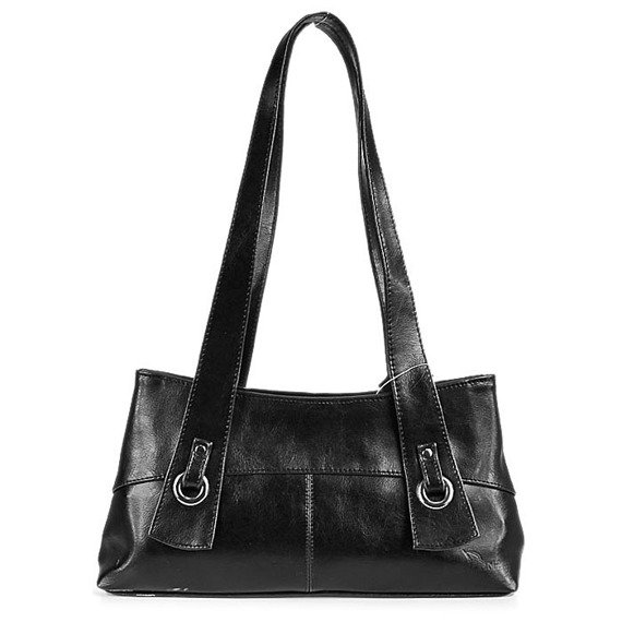 DAN-A T6 czarna torebka skórzana damska