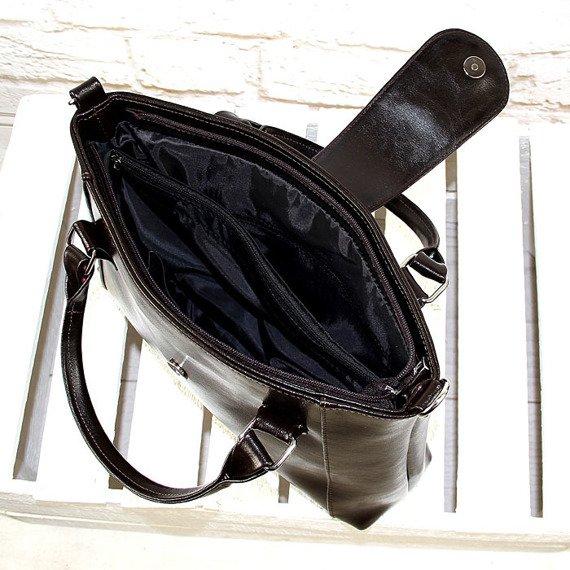 DAN-A T84 czekoladowa torebka skórzana damska aktówka