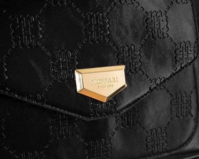Duża shopperka czarna Monnari BAG2350-020