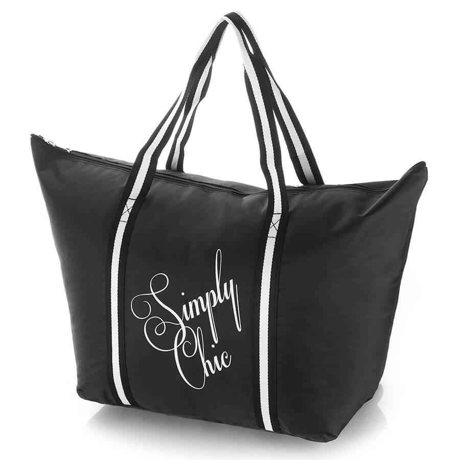 Duża torba damska na lato Simply Chic 2209-BL
