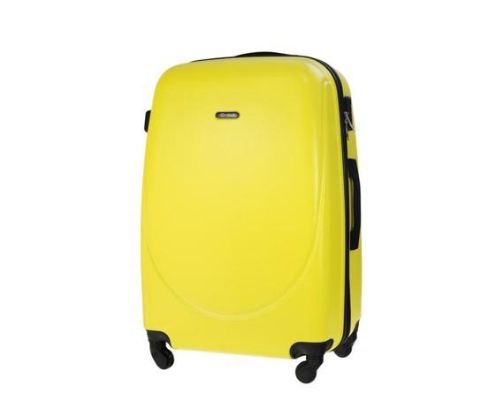 Duża walizka podróżna STL856 żółta