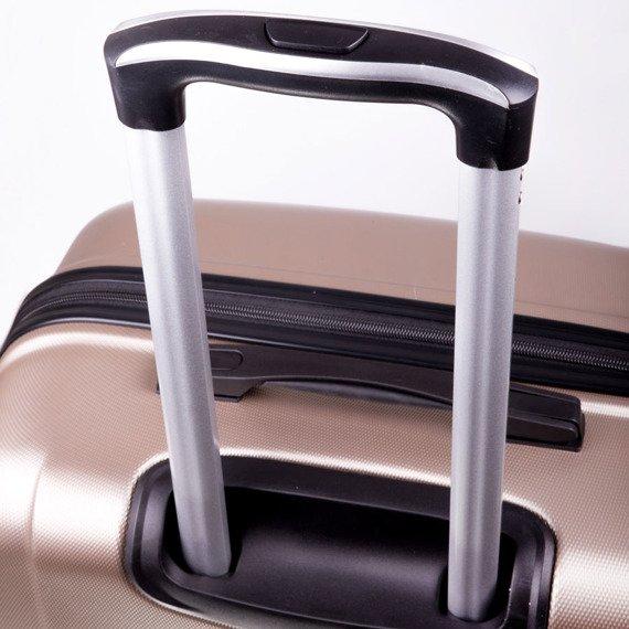Duża walizka podróżna na kółkach SOLIER STL310 L ABS granatowa