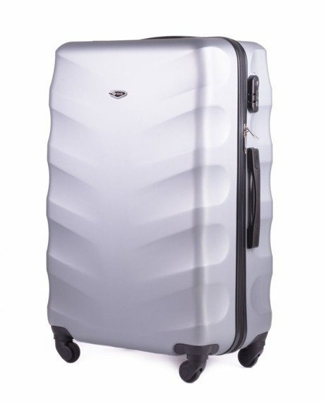 Duża walizka podróżna na kółkach SOLIER STL402 L ABS srebrna