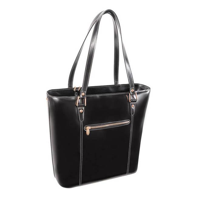 Ekskluzywna skórzana torebka damska czarna Mcklein Cristina 97545