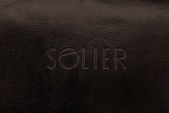 Elegancka skórzana kosmetyczka męska SOLIER c.brązowa