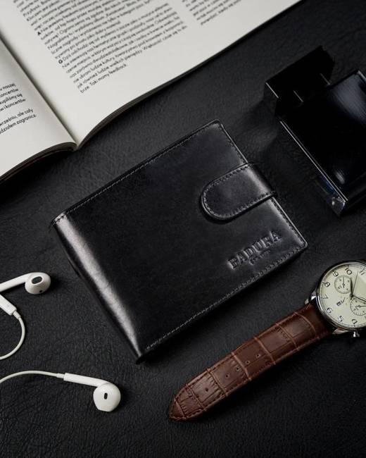 Elegancki portfel czarny Badura N992L VT
