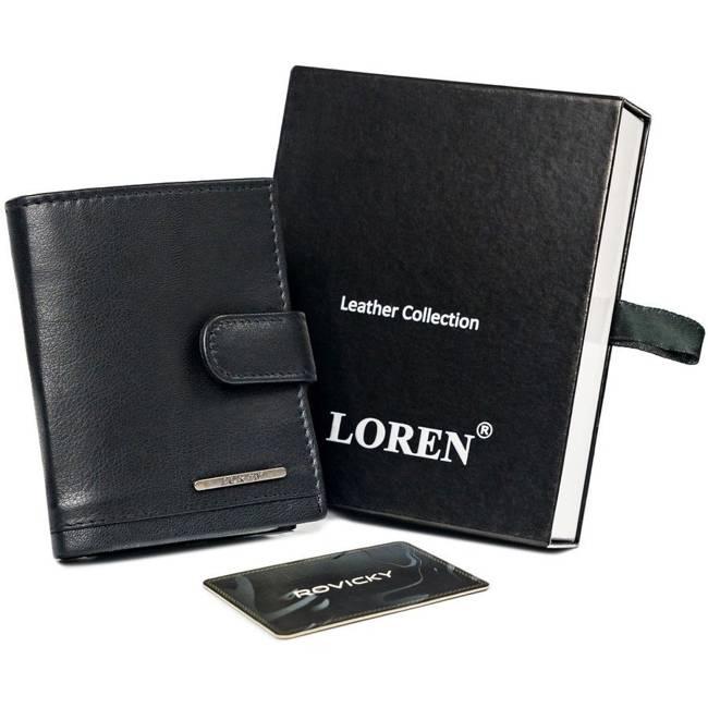 Etui na karty banknotówka czarna Loren GRM-70-05 BLACK
