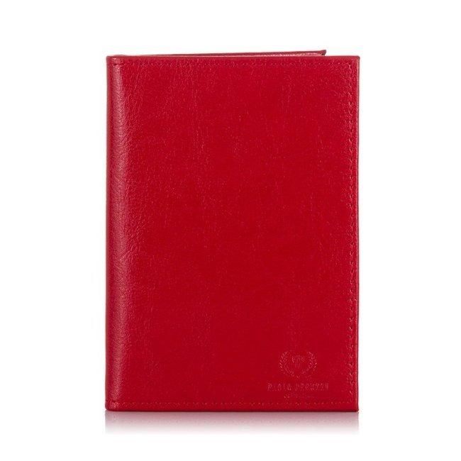 Etui skórzane na karty czerwone Paolo Peruzzi H-06