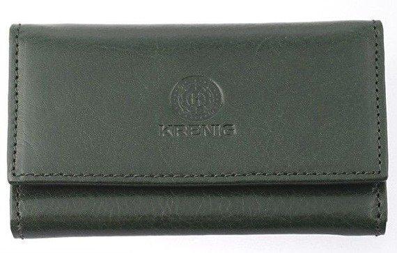 KRENIG Classic 12035 zielony skórzany wizytownik