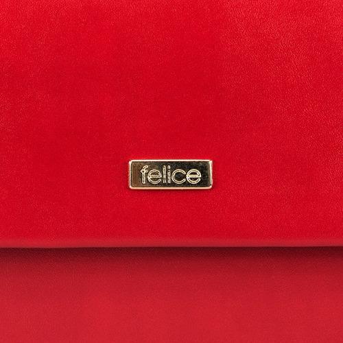 Kopertówka damska Felice F13 MAT czerwona