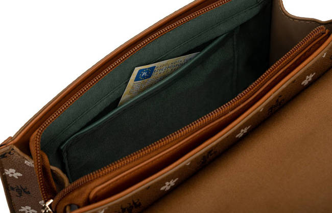 Kuferek brązowy print David Jones CM6123 COGNAC D.BROW