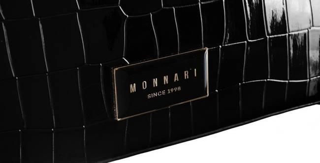 Lakierowana torebka czarna Monnari BAG2290-020