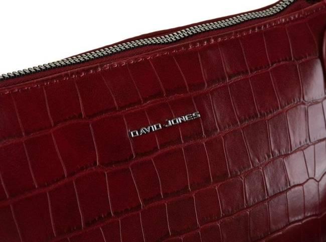 Listonoszka bordowa croco David Jones CM6244A DARK RED