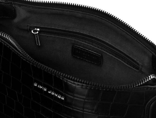 Listonoszka czarna croco David Jones CM6244A BLACK