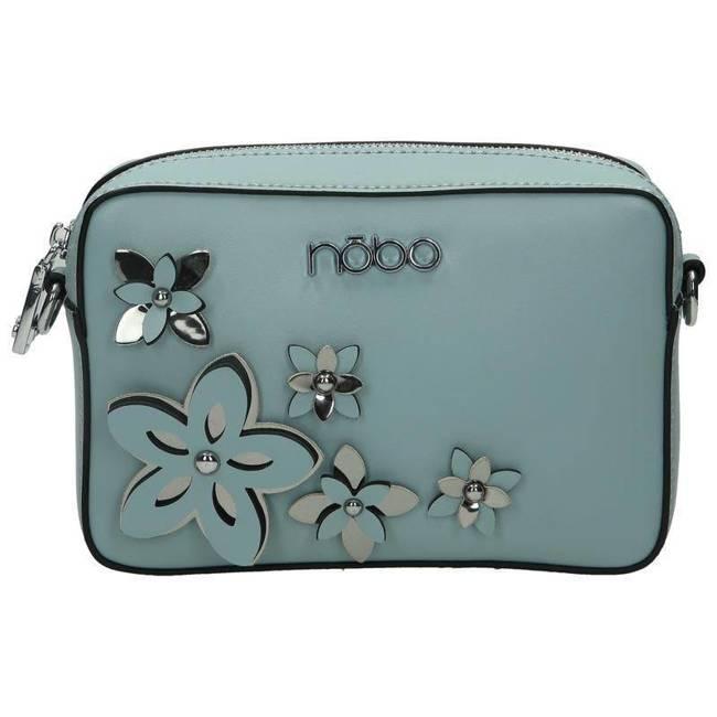 Listonoszka damska niebieska z kwiatami Nobo NBAG-E1600-C012