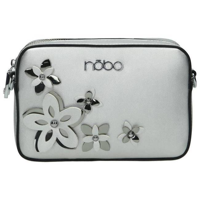 Listonoszka damska srebrna z kwiatami Nobo NBAG-E1600-C022