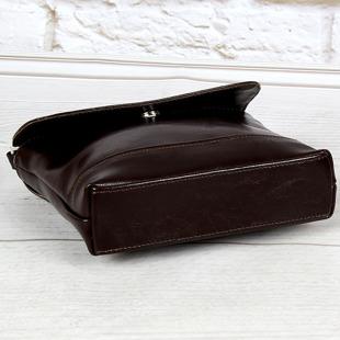 Listonoszka skórzana damska DAN-A T291 czekoladowa