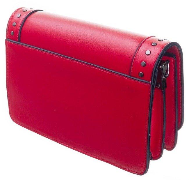Listonoszka torebka z nitami FemeStage 64712 czerwona