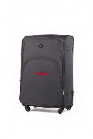 Mała podręczna walizka miękka S Solier STL1708 szara