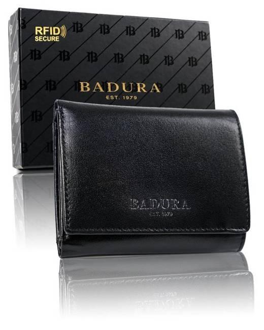 Mały portfel damski czarny Badura  PO_D100CZ_CE
