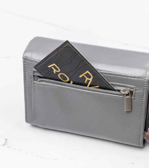 Mały portfel damski szary Cavaldi RD-02-GCL GRAY