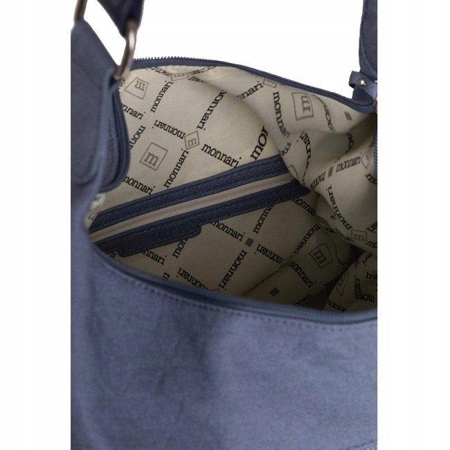 Materiałowy shopper niebieski Monnari BAG2960-012